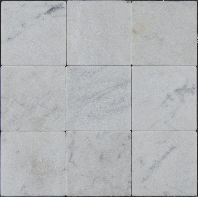 Tumbled marble floor tile