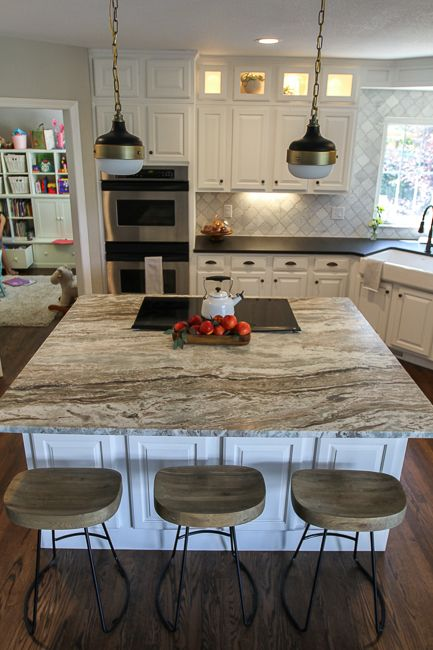 Grey Wood Floors Kitchen Dark Cabinets